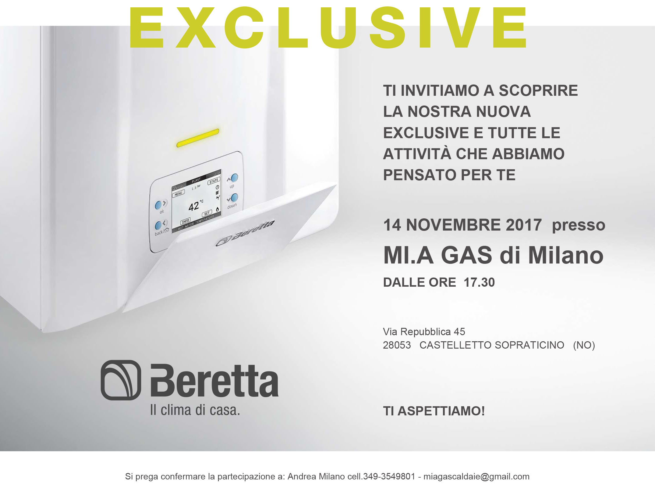 Beretta_Exclusive_Invito MIA GAS